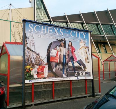 Schexs in the City Werbekampagne 2017, City Management Kempten, Mauswerker